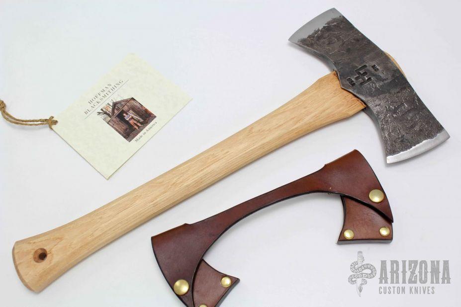 Saddle Axe - Hickory Handle   Arizona Custom Knives
