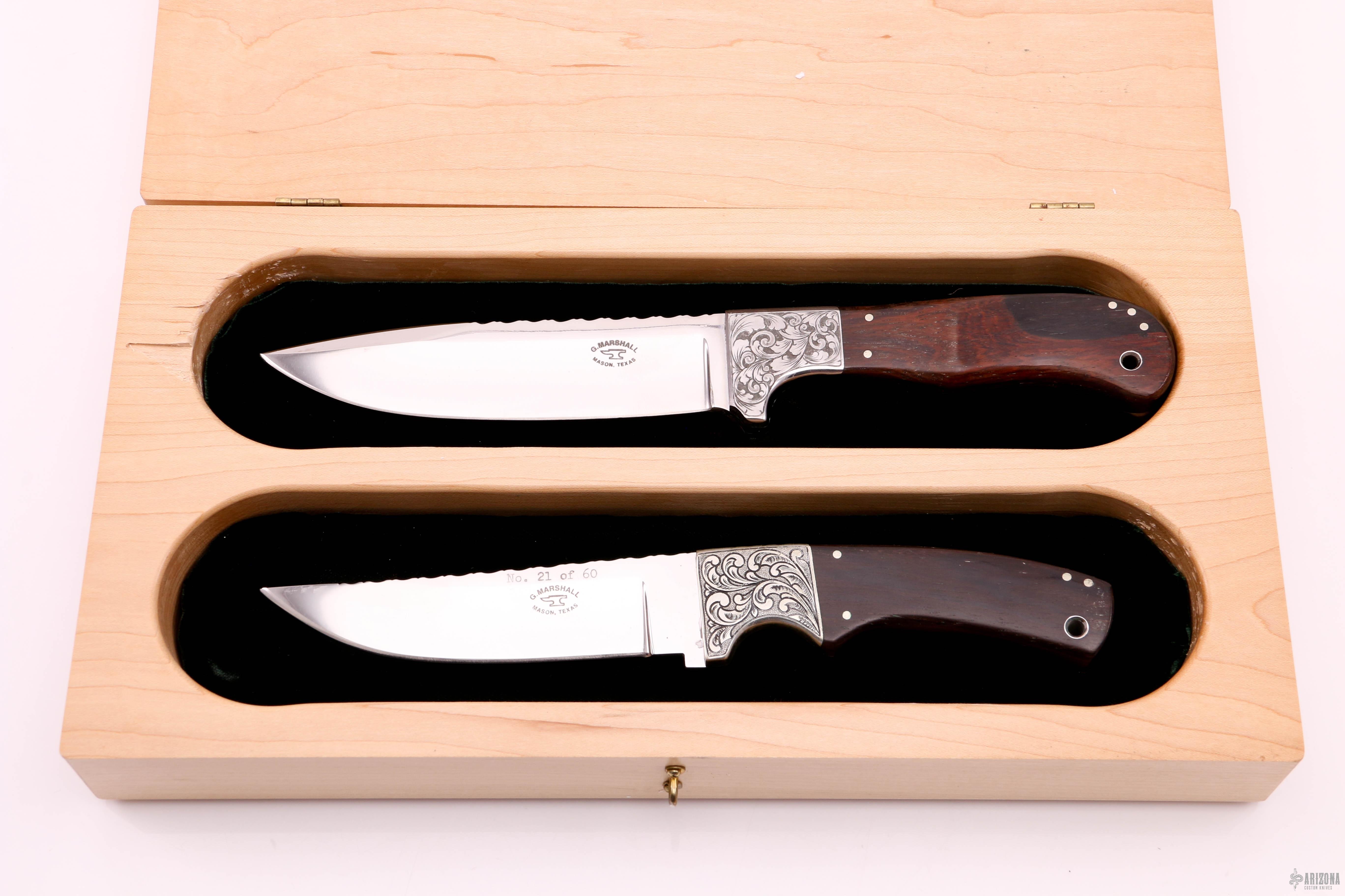 60 And 70 Year Commemorative Set One Of A Kind Arizona Custom Knives